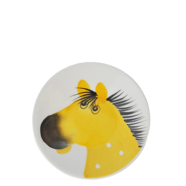 Oswald Pferd gelb Teller 11 cm