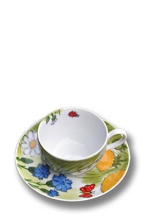 Alle Blumen Tasse mit Unterteller 0,25 l