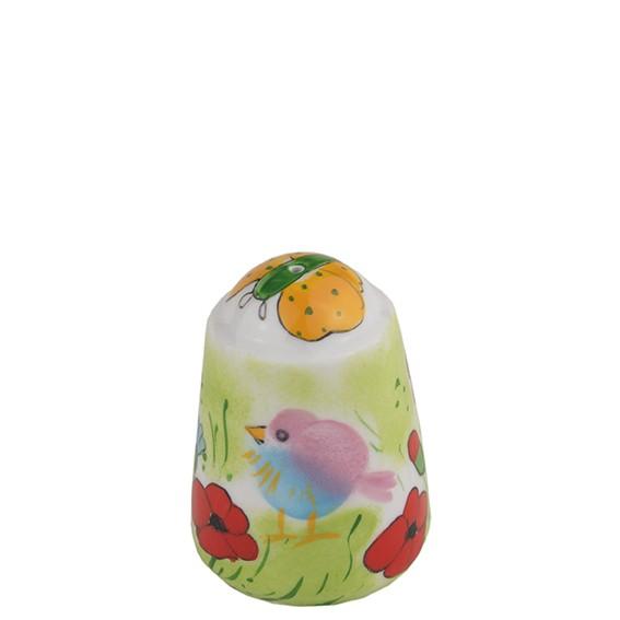 Helina Tilk - Online-Shop: ist Ihr Shop für Porzellan, Keramik und Heimtextilien. Jetzt günstig einkaufen - mit großer Auswahl und kompetenter Beratung! -  handbemalter Salzstreuer, Motiv: Sommervogel