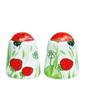 Erdbeere Salz- und Pfefferstreuer