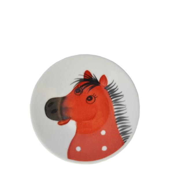 Osvald Pferde Teller 11 cm braun
