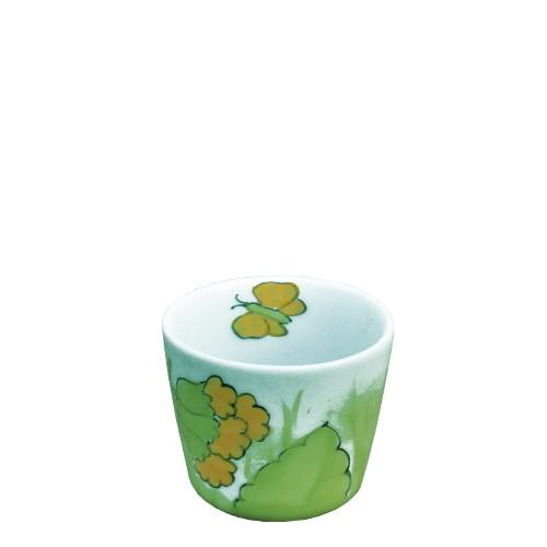 Helina Tilk: Handbemaltes Porzellan Geschirr und Keramik - handbemalter Eierbecher aus Porzellan mit Schlüsselblumenmotiv - Porzellan Geschirr hier kaufen