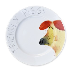 Piggy friendly Teller 19 cm