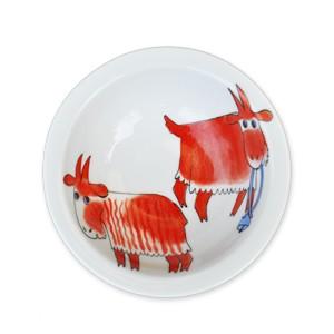 Helina Tilk: Handbemaltes Porzellan - Müslischale 16 cm, Ziege