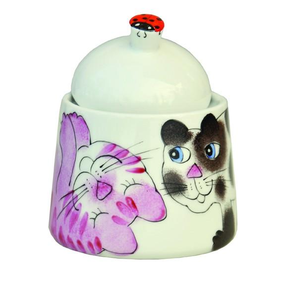 Bunte Katzen Zuckerdose gerade Form 330 ml