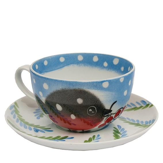 Nordvogel Tasse mit Unterteller 0,45 l