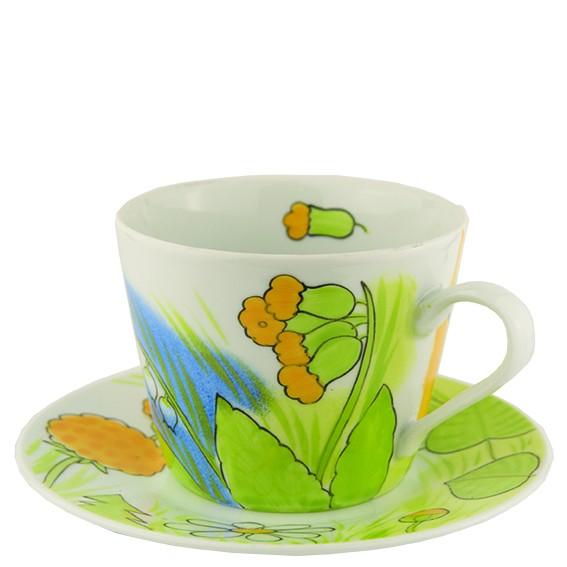 Tasse mit Unterteller porzellan