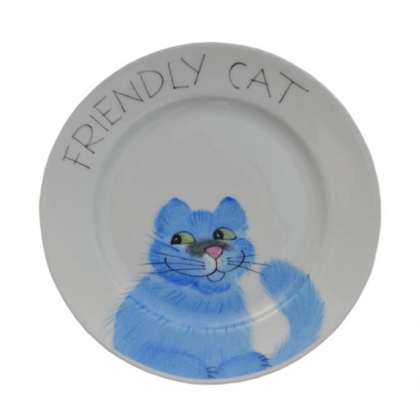 Emma cats blau friendly Teller 11 cm