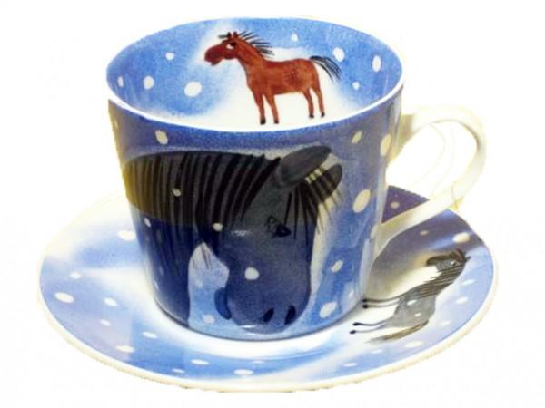Mustang Tasse mit Unterteller 0,4l Winter