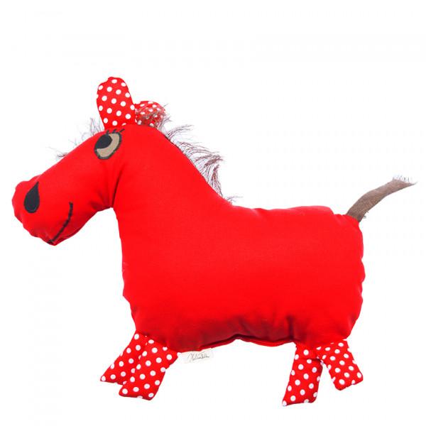 Helina Tilk: Heimtextilien - Countrykissen Pferd rot