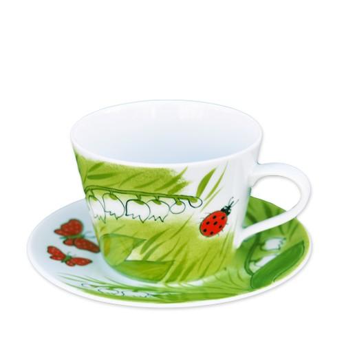 Maiglöckchen Tasse mit Untertasse 0,4L