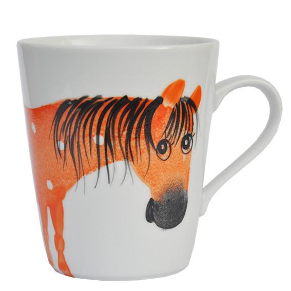 Oswald Pferd orange Henkelbecher Opty 300 ml