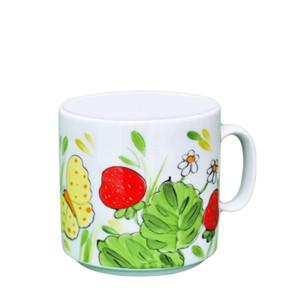 Erdbeere Henkelbecher stapelbar
