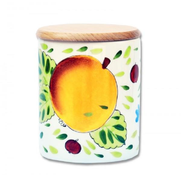 Apfel Vorratsdose mit Holzdeckel 0,75 l