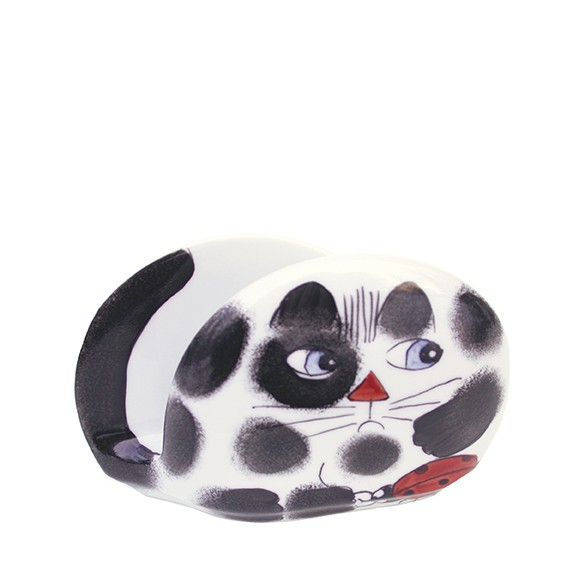 Katze mit Käfer Serviettenhalter