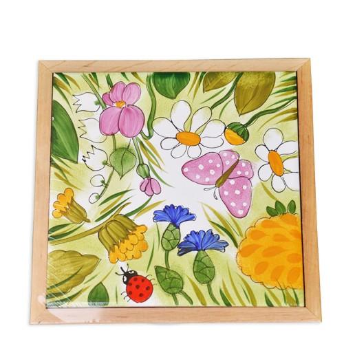 Alle Blumen Bild Untersetzer 15x15 cm