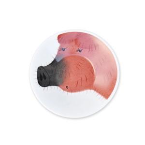 Helina Tilk Deutschland: handbemalter Teller 11cm, Motiv: dandy piggy