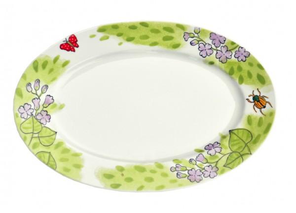 Flieder ovale Platte