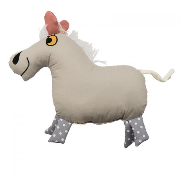 Helina Tilk: Heimtextilien - Countrykissen Pferd grau