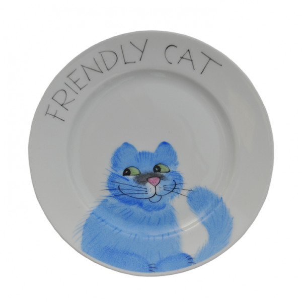 Emma cats blau friendly Teller 19 cm