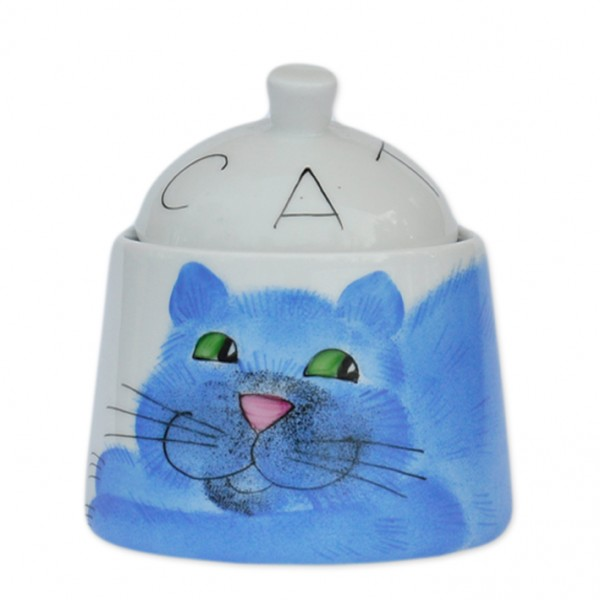 Emma cats blau Zuckerdose 330 ml