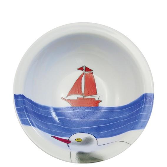 Helina Tilk Deutschland: Handbemaltes Porzellan - handbemalte Schale 16 cm aus Porzellan Wind & Weite