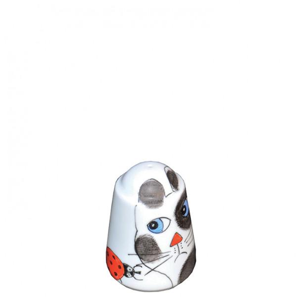 Katze mit Käfer Salz- Pfefferstreuer
