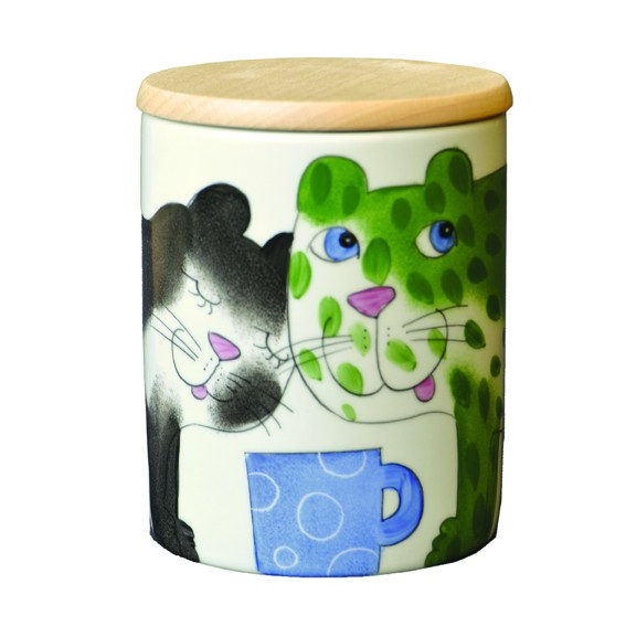 Katze mit Tasse Vorratsdose 0,75 l