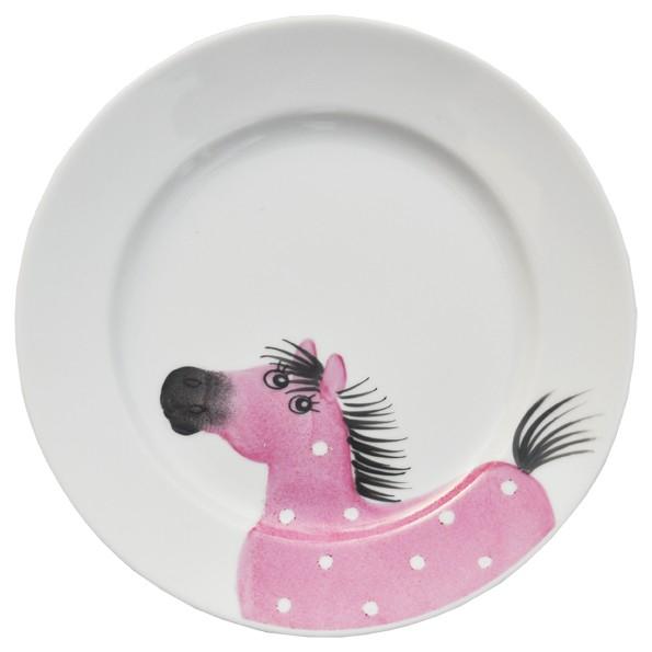 Osvald Pferde Teller 19 cm rosa