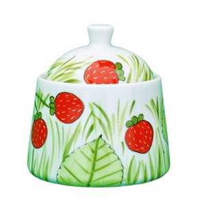 Erdbeere gerade Form Zuckerdose