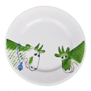 Ziege grün Teller 19 cm