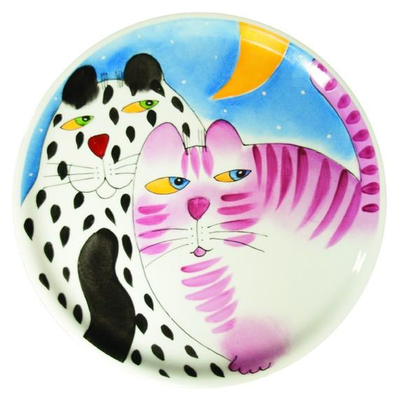 Katze mit Mond Tortenplatte 31 cm