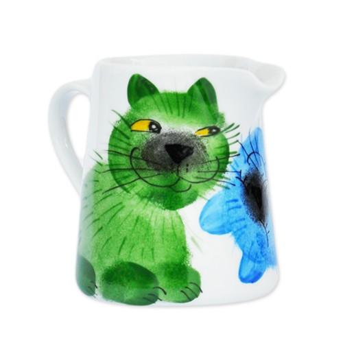 Emma cats grün/blau Sahnekanne 0,25 l
