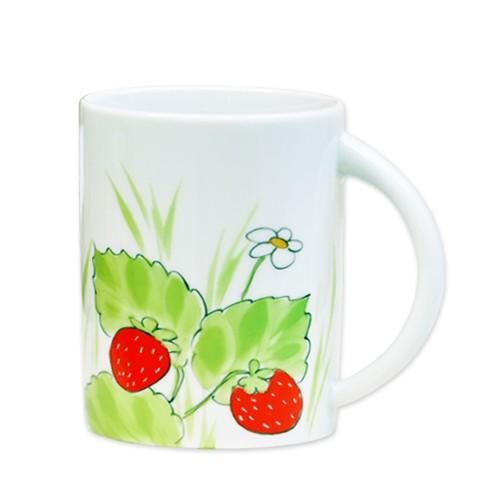 Erdbeeren Henkelbecher hohe Form 300 ml