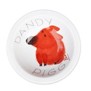 handbemalte Müslischale 16 cm, Motiv: dandy piggy