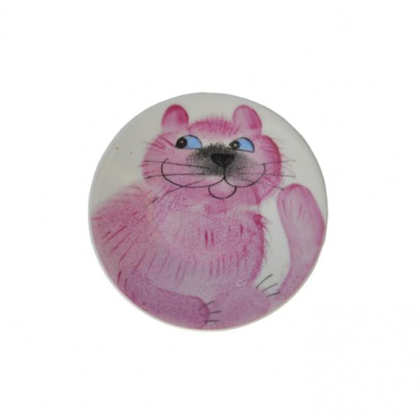 Emma friendly cat rosa Teller 11 cm