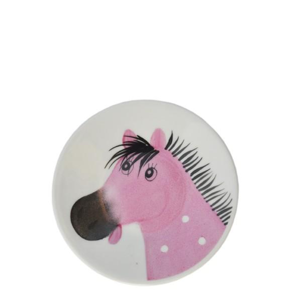 Osvald Pferde Teller 11 cm rosa