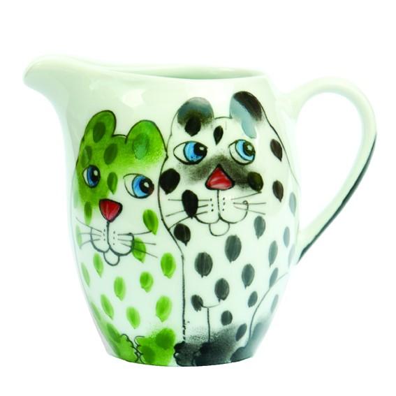 Katze mit Tasse Kännchen runde Form 0,34 l