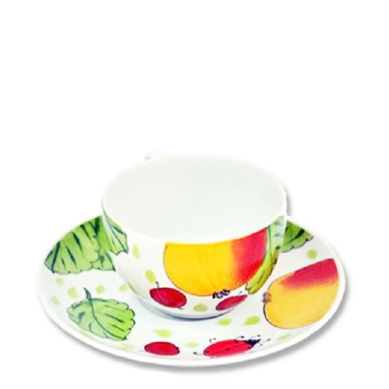 Apfel Tasse mit Unterteller 0,25 l